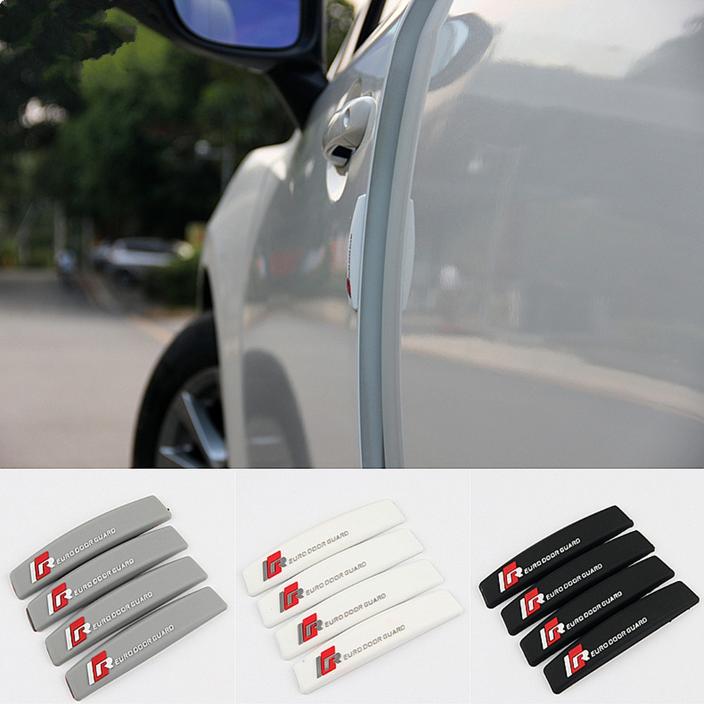 4pcs Universal Car Door Removable Anti Crash Strip Edge Guard Stickers