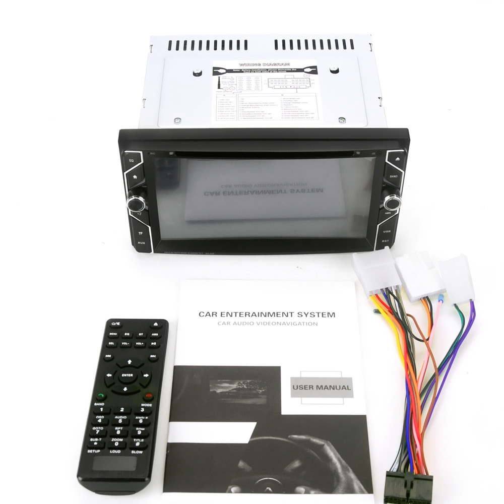 HG040 2 Din 6.95 inch Bluetooth Car Stereo DVD Player for Toyota Supports Hands-free Call / FM Radio Function