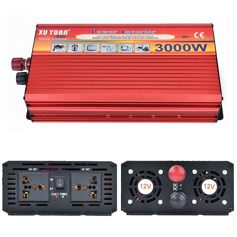 XUYUAN Multifunctional 3000W DC 12V to AC 220V High Power Solar Converter for Car / Household