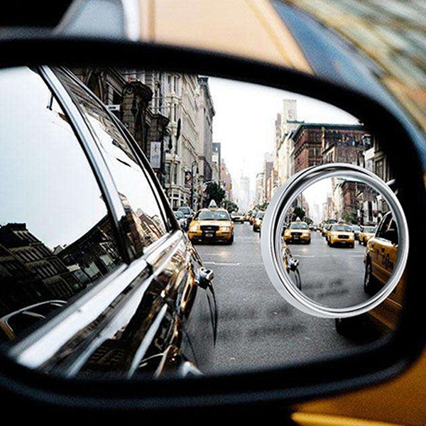 Car Wide Angle Rear View Blind Spot Mirror with Adjustable 360 Degrees HD Convex Glass 2pcs