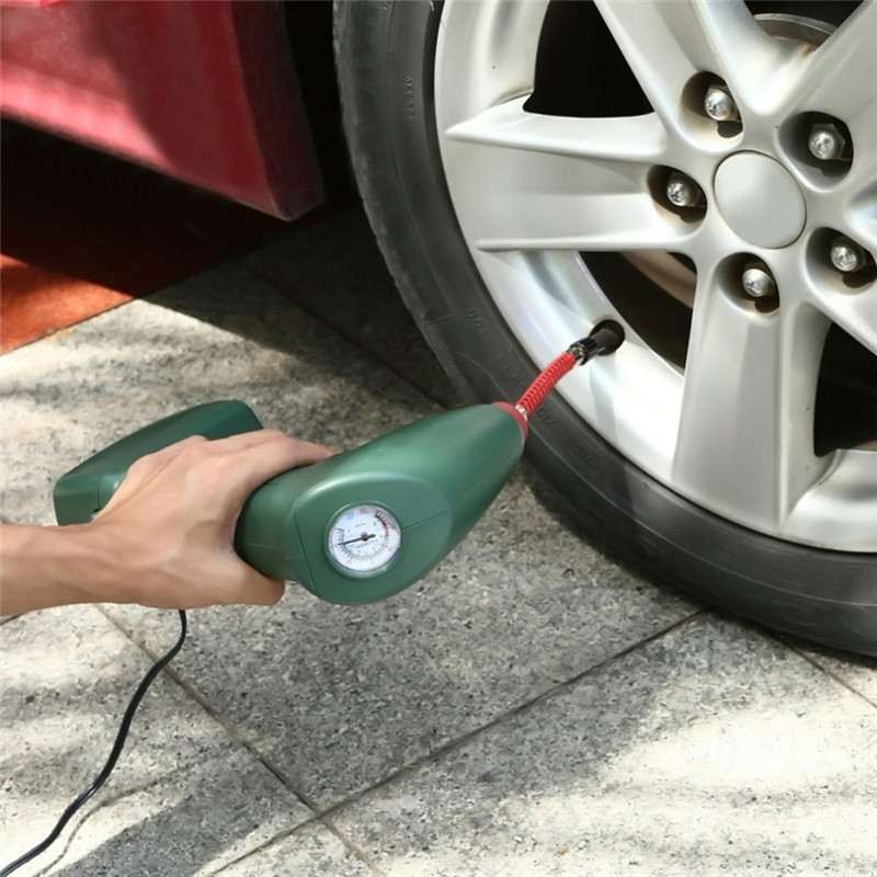 Portable Air Compressor Auto Tire Inflator Pump Car Tool Handheld for Outdoor