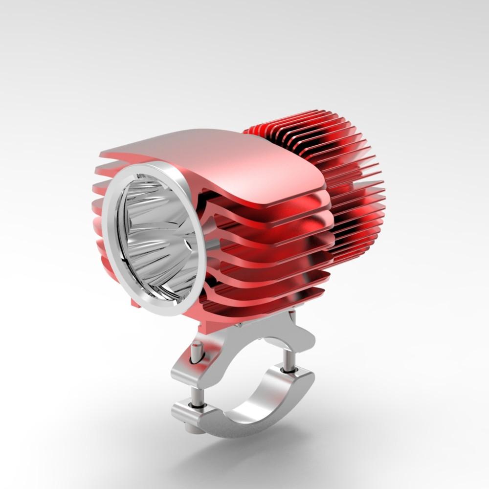 Bosmaa LED Headlight 18W Motorcycle Fog DRL flash Headlamp Spotlight with Wires