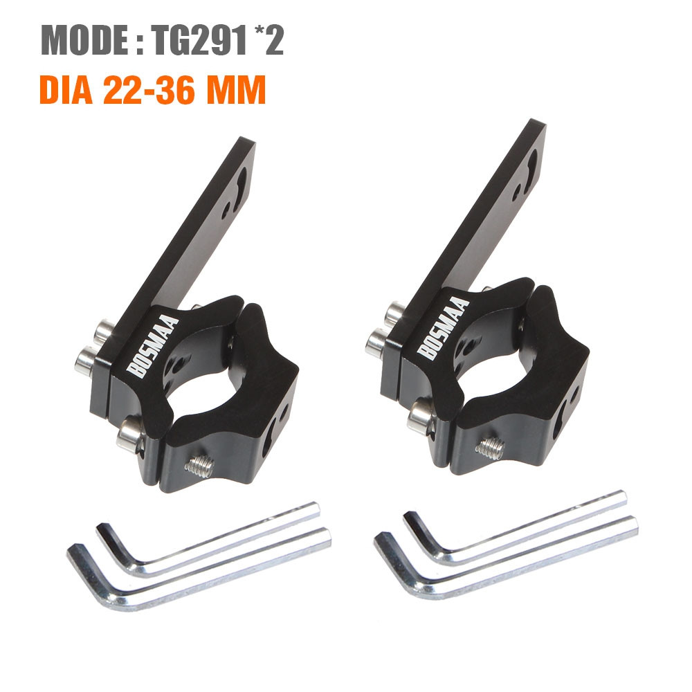 2sets BOSMAA TG29 Motorcycle LED Headlight Tube Fork Bracket