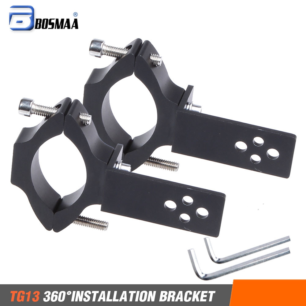 BOSMAA 2sets Universal Mount TG11/TG13 Motorcycle Headlight Bracket Tube Fork