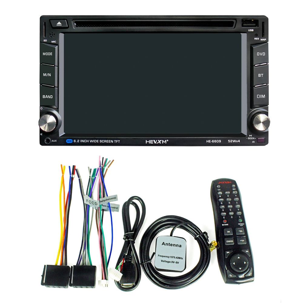 HEVXM HE - 6609 6.2 inch High Definition Touch Screen Stereo Car DVD Player