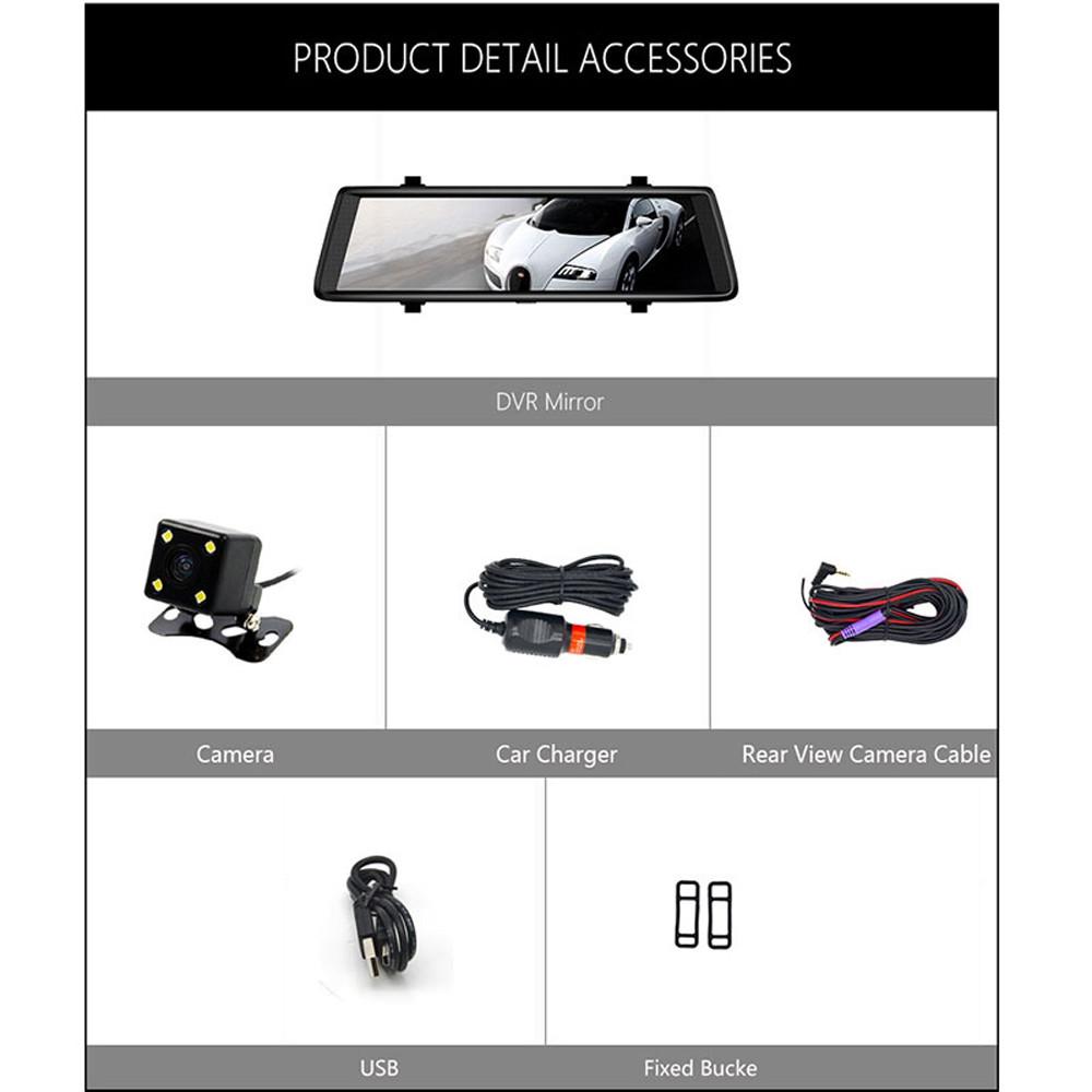 Junsun A900C Full IPS Touch Car DVRs Recorder FHD 1080p Dual Lens Dashcam Re