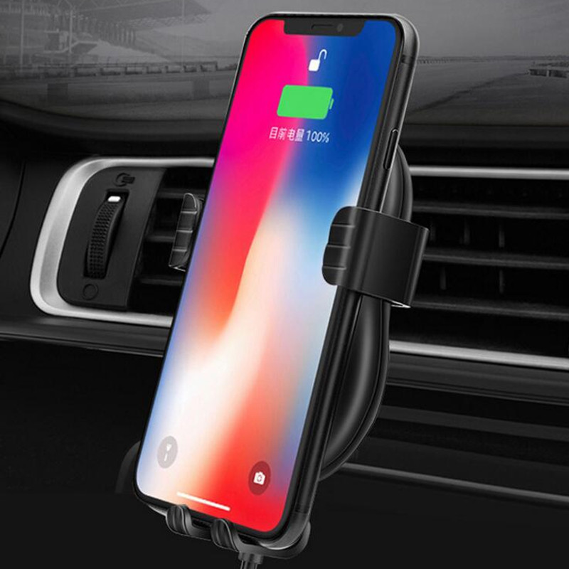 Car Gravity Outlet Phone Holder Wireless Charger