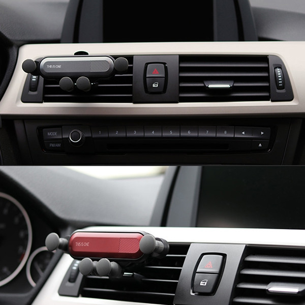 Gravity Mobilephone Support Car Air Outlet Claw Retractable Phone Holder