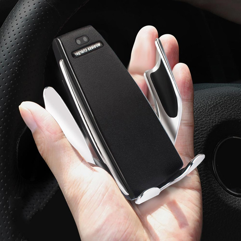 2 in 1 Car Mount Phone Holder Wireless Charger