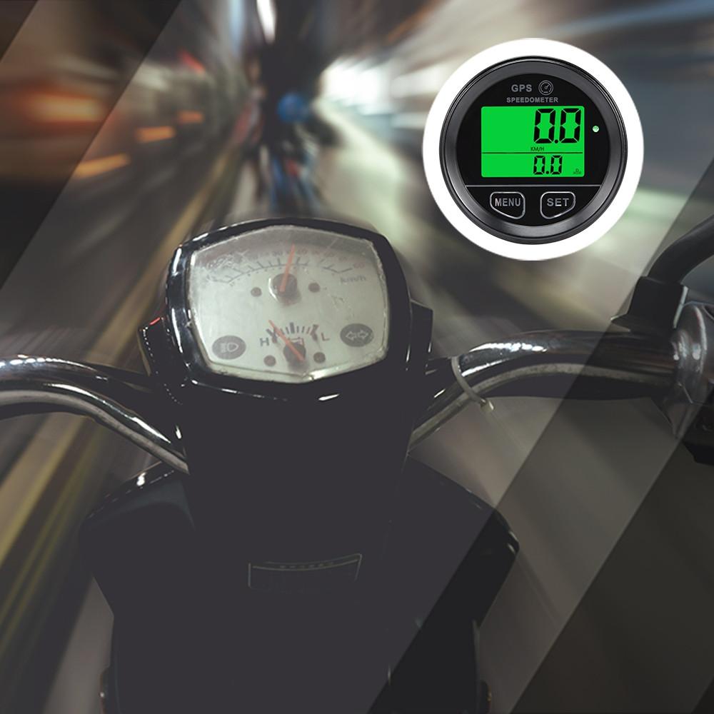 60mm LCD Motorcycle GPS Speedometer Odometer