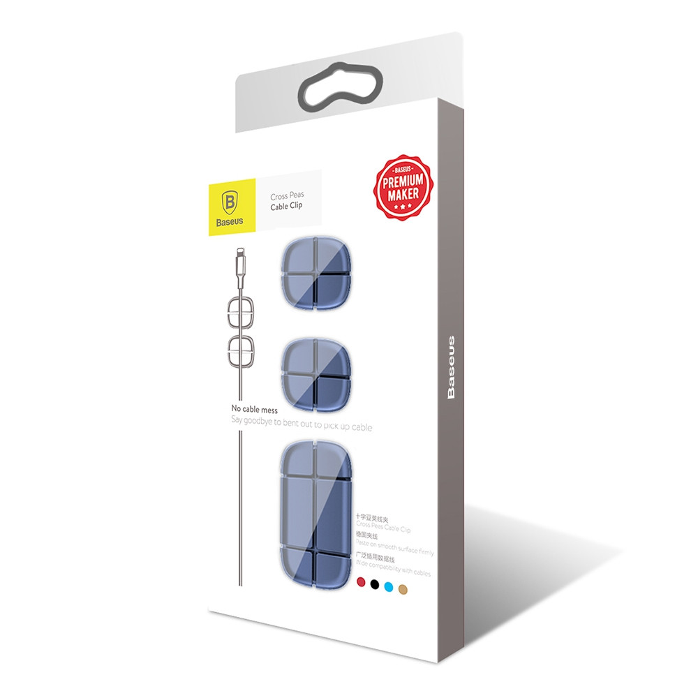 Baseus Cross Peas Cable Clip Silicone Cord Organizer Holder