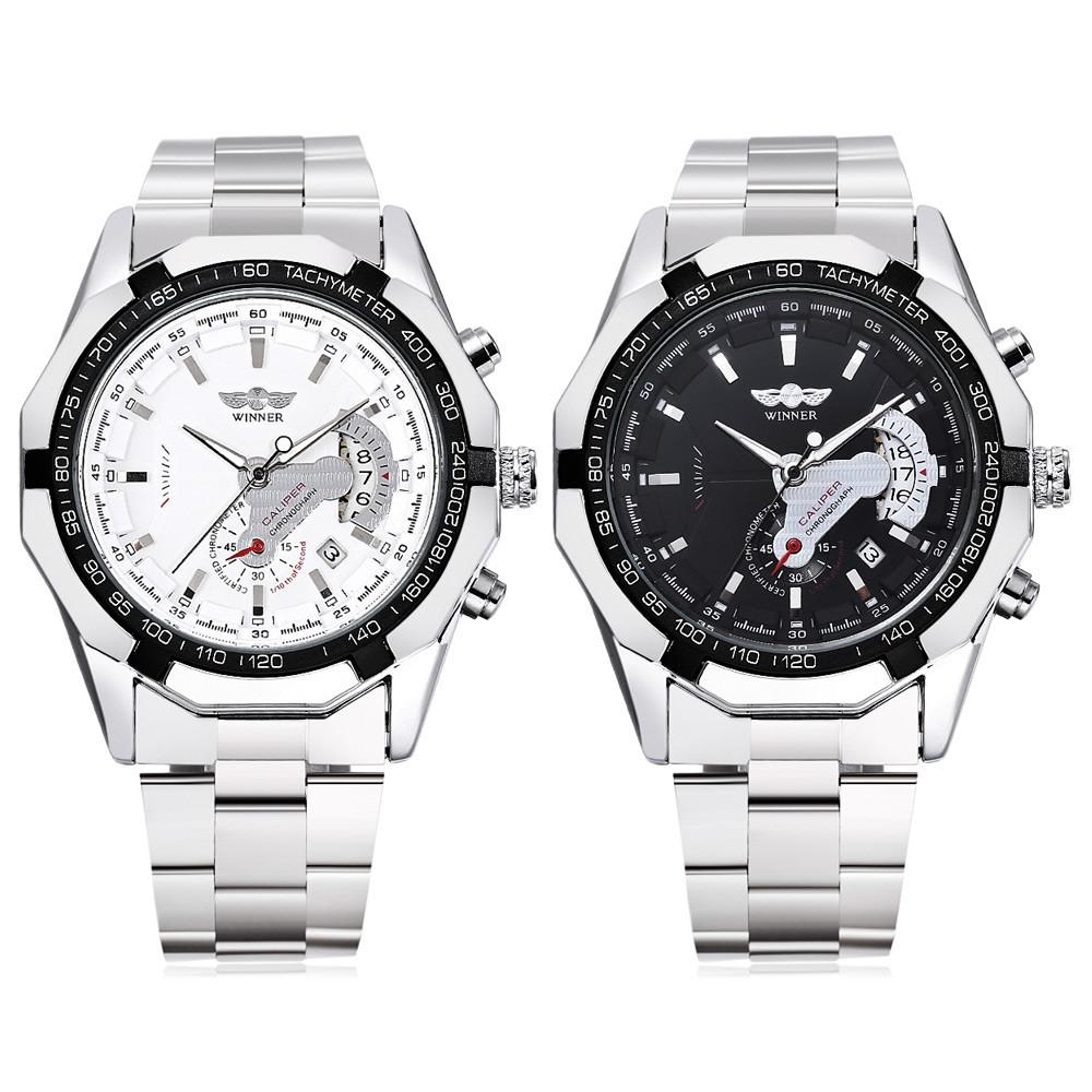 WINNER W050 Male Auto Mechanical Watch Chronograph Date Display Wristwatch