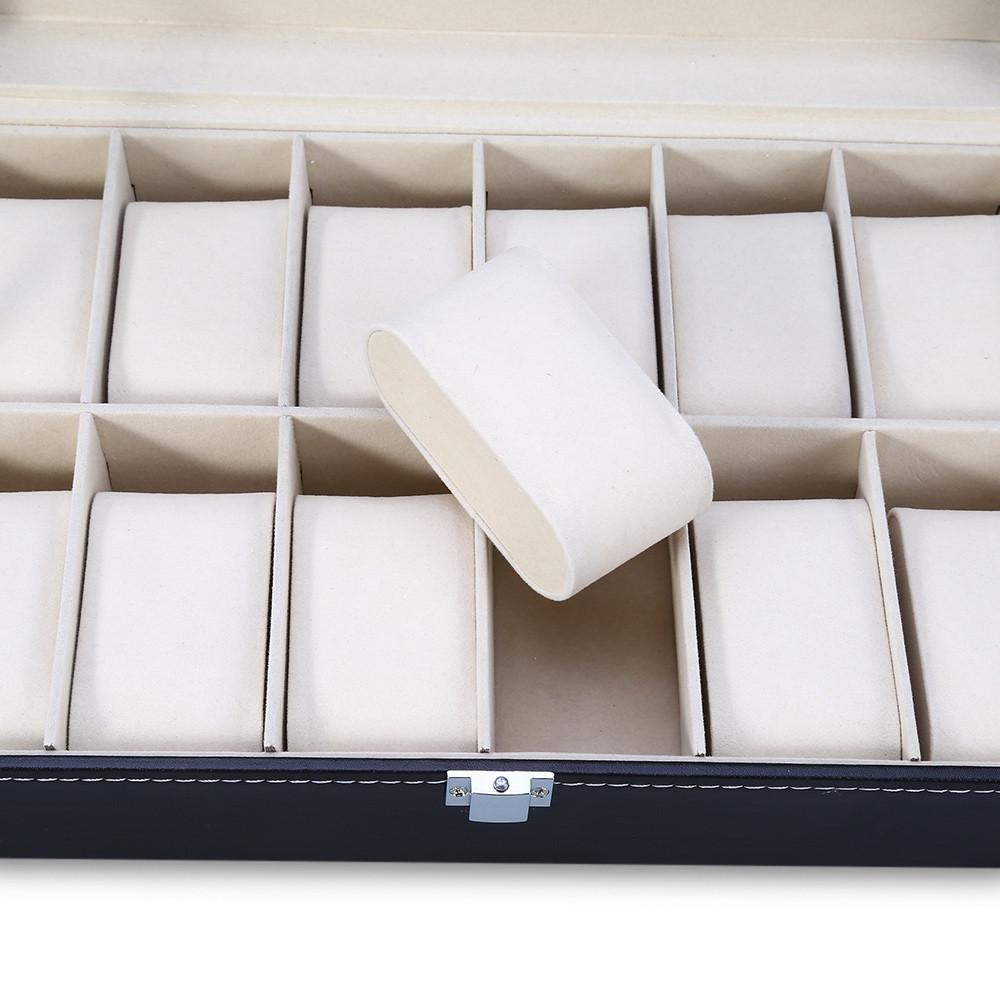 12 Grids Watch Case Jewelry Storage Organizer