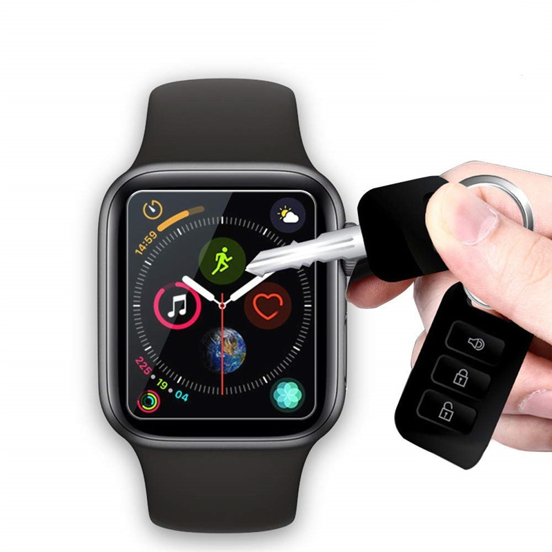2 Packs 9H Tempered Glass Screen Protector for Apple Watch Series 4