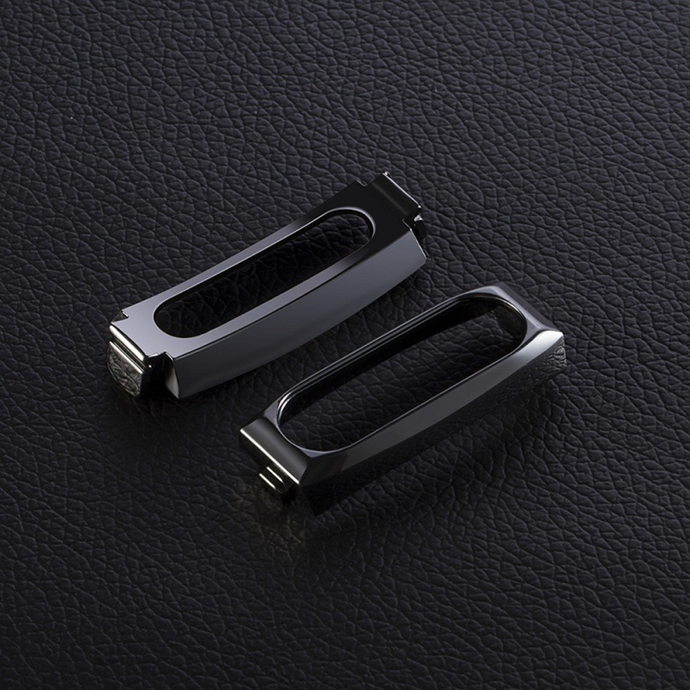 14mm Rubber Strap Metal Case for Xiaomi Miband 2 Smart Wristband