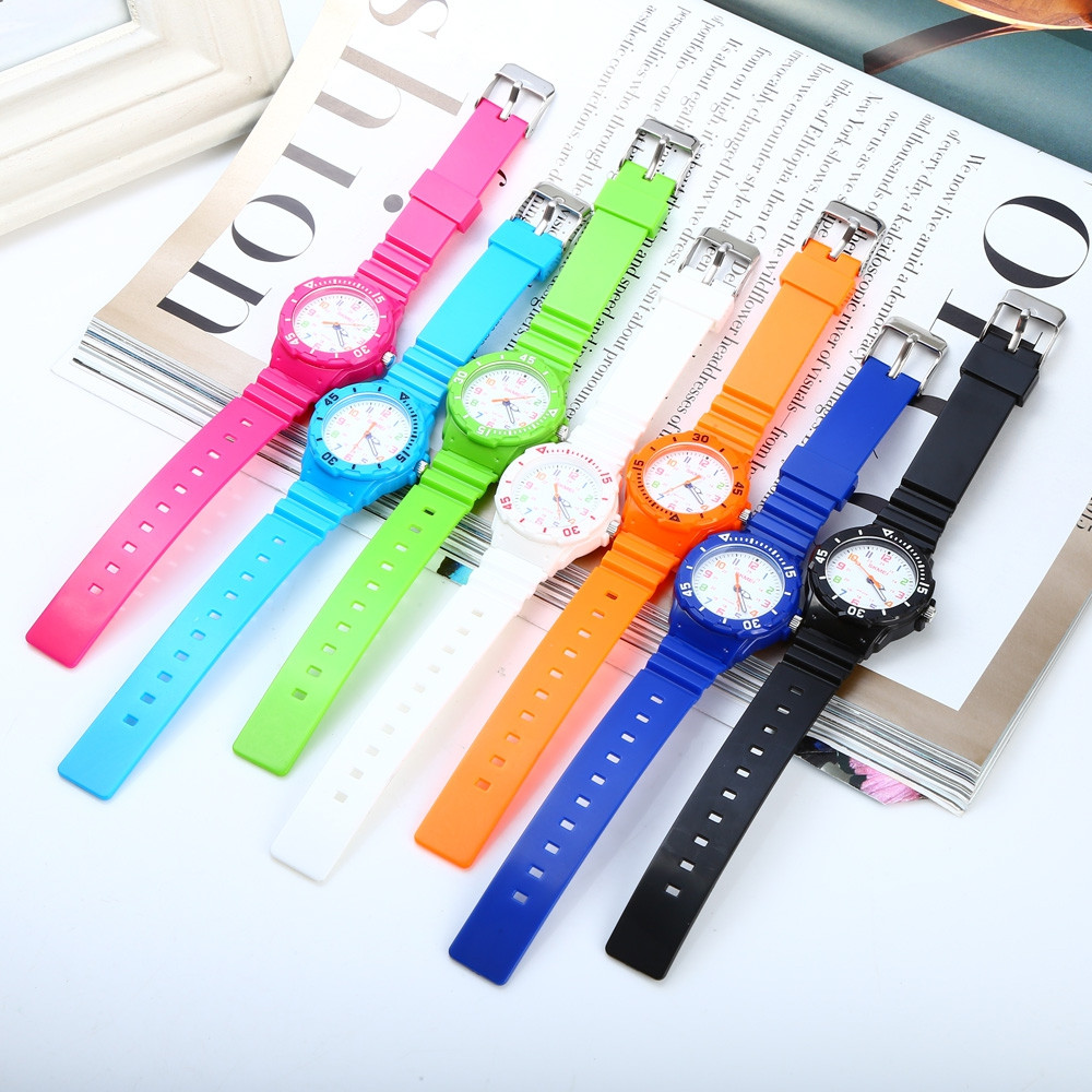 Skmei 1043 Children Quartz Watch PU Strap Wristwatch 50m Water Resistance for Kid