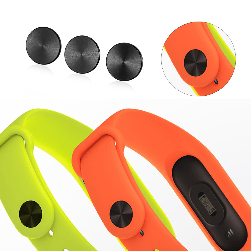3pcs Strap Buckle for Xiaomi Miband 2 Wear Resistant Zinc Alloy