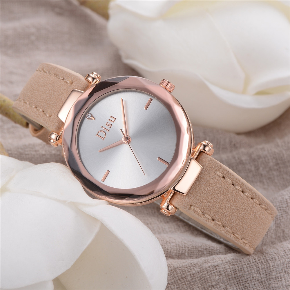 DISU DS082 Women Minimalist Casual Leather Band Business Watch