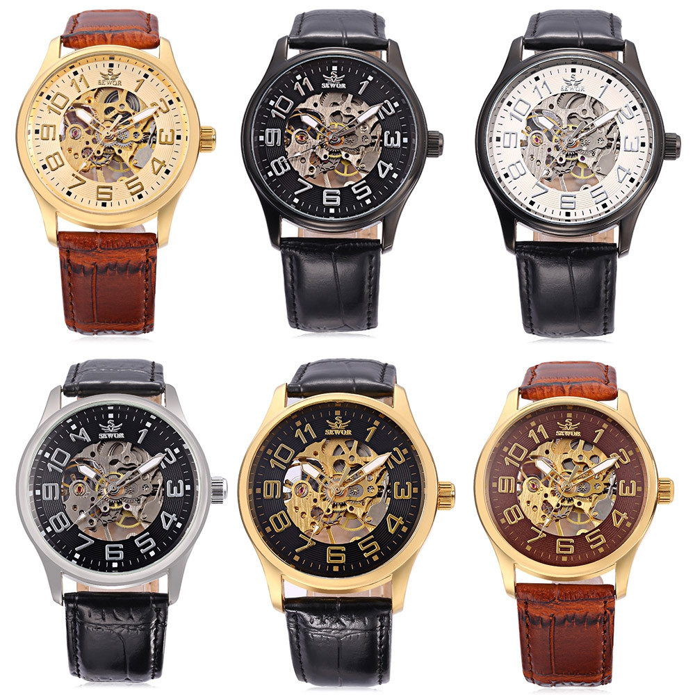 SEWOR SW037 Male Mechanical Watch Water Resistance Luminous Wristwatch for Men