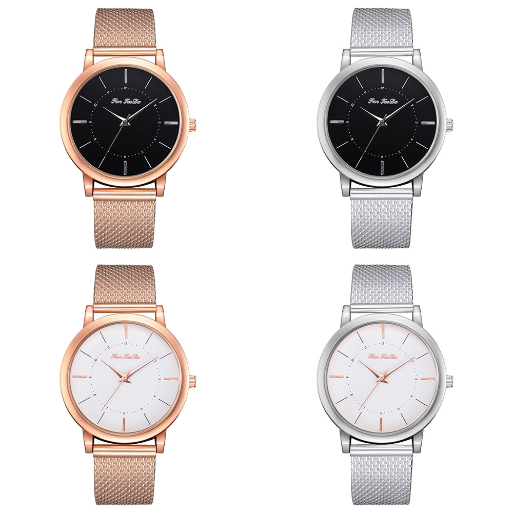 Fanteeda FD188 Women Trend Alloy Rose Gold Quartz Watch