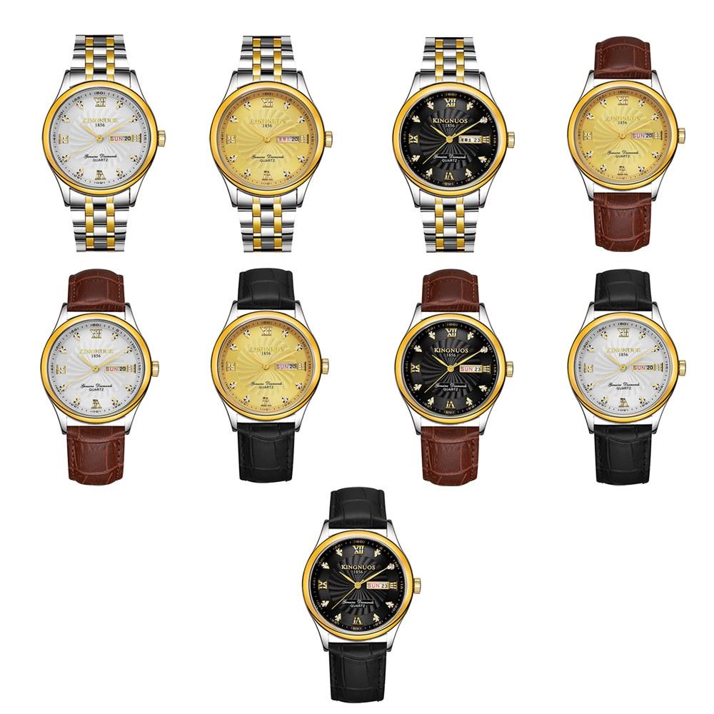 KINGNUOS 1856 Men Business Quartz Watch
