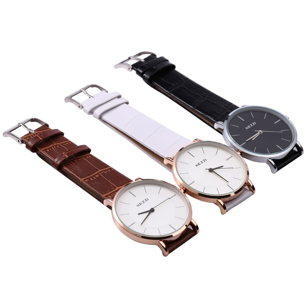 KEZZI K - 738 Couple Quartz Watch Water Resistance Classic Round Dial Watchwrist
