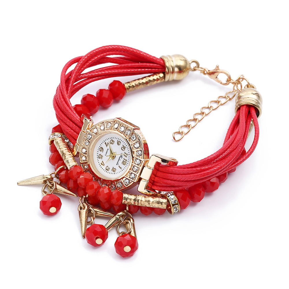 FULAIDA Female Quartz Rhinestone Watch