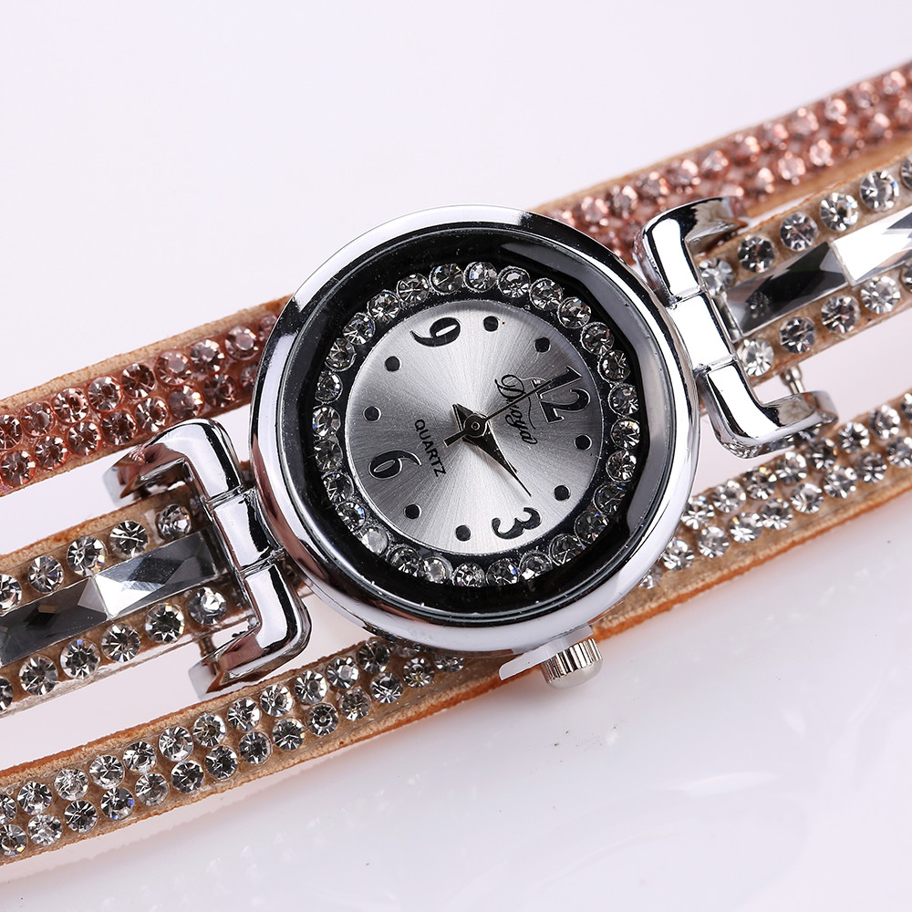 Duoya D136 Fashion Diamond Watch Ladies Circle Watch Quartz Watch