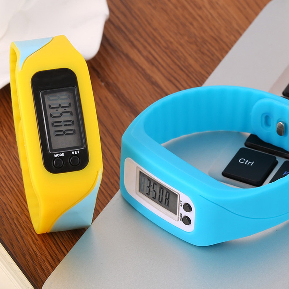 HENGZHENG HZ67 LCD Children Sport Watch Step Calorie Counter Silicone Band Wristband