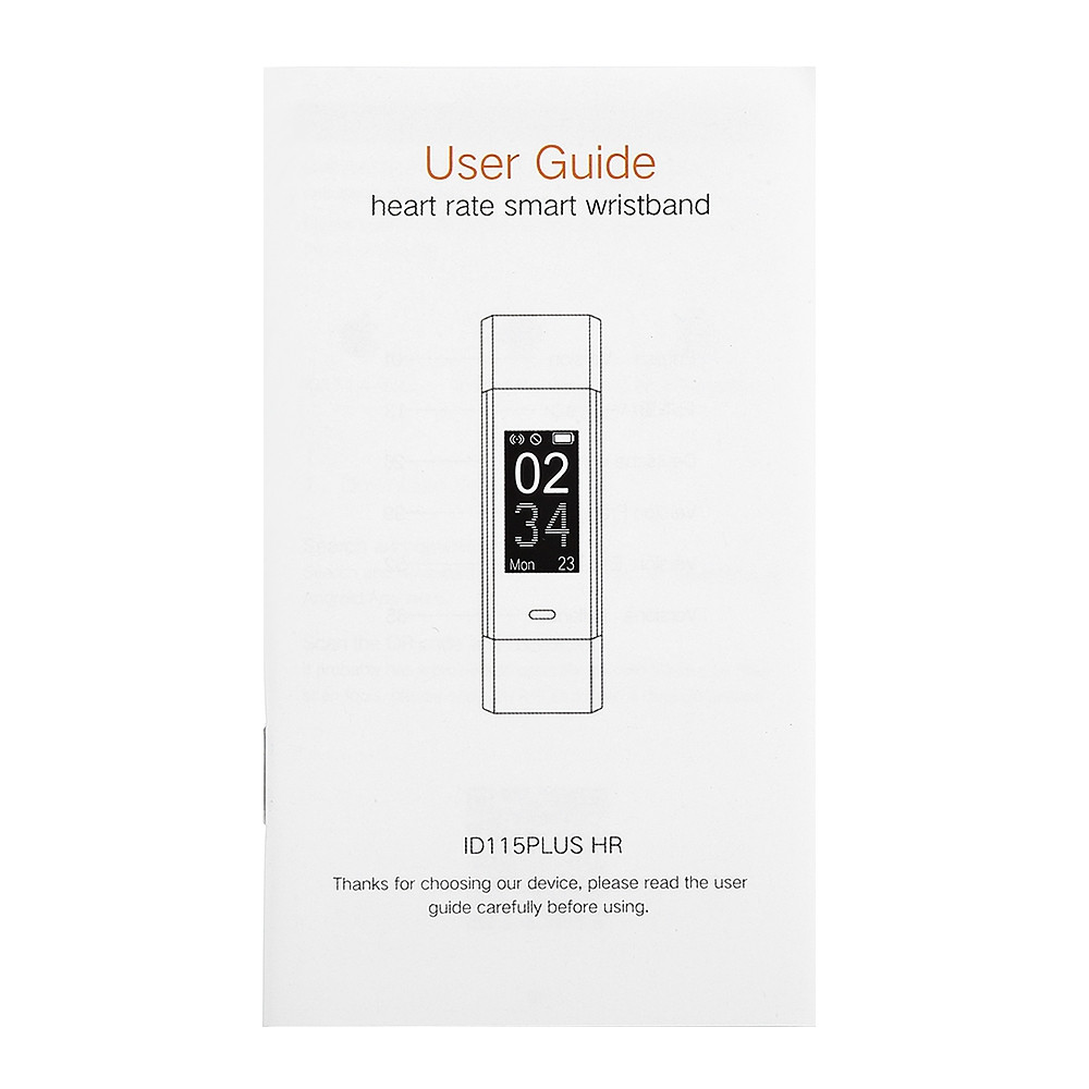 ID115HR Plus Heart Rate Monitor Smart Bracelet