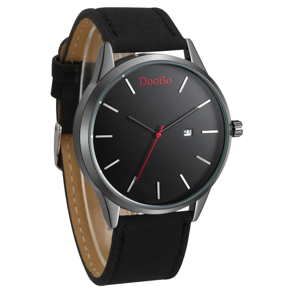 DOOBO D004 4739 Popular Leather Band Quartz Men Watch