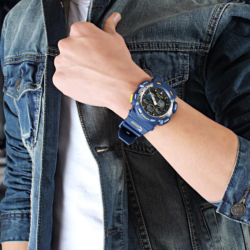 EPOZZ 3001 Dual Display Watch 100M Waterproof Men Watch Alarm Clock Stop Watch