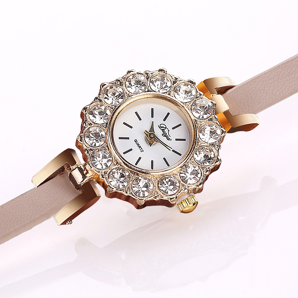DUOYA D185 Women Analog Quartz Leather Wrist Watch with LOVE Letters