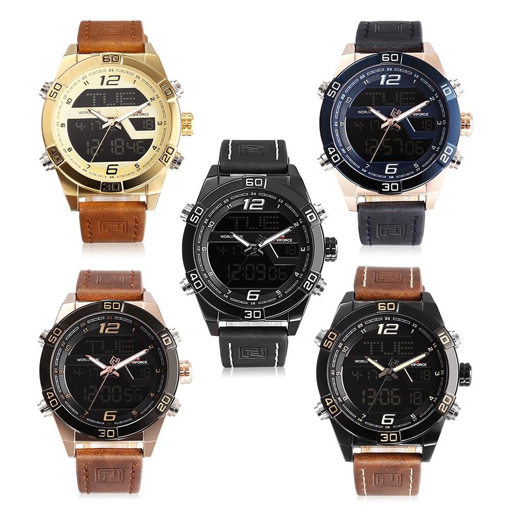 NAVIFORCE 9128 Male Dual Movt Watch Digital Calendar Display