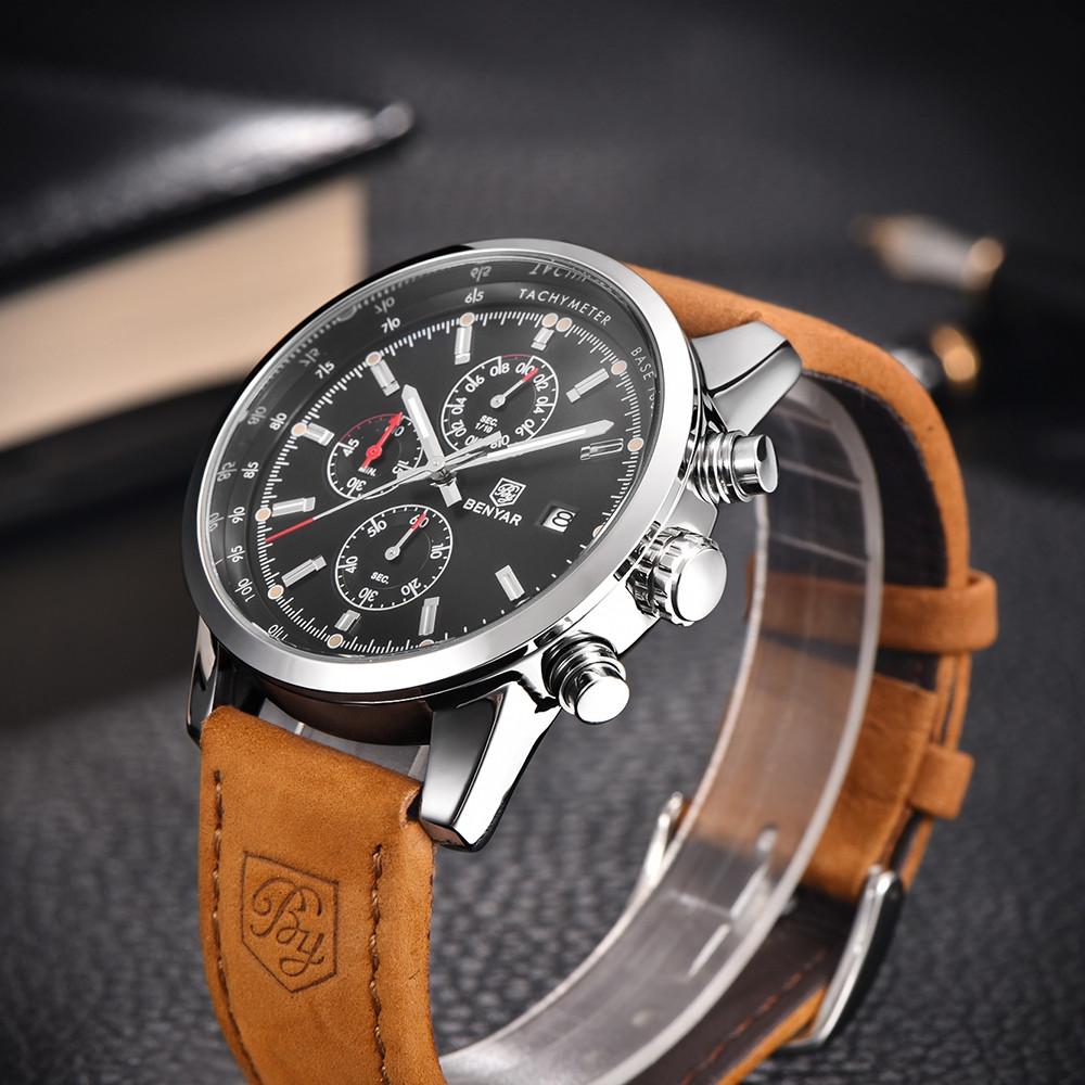 BENYAR Fashion Chronograph Sport Mens Top Brand Luxury Quartz Watch