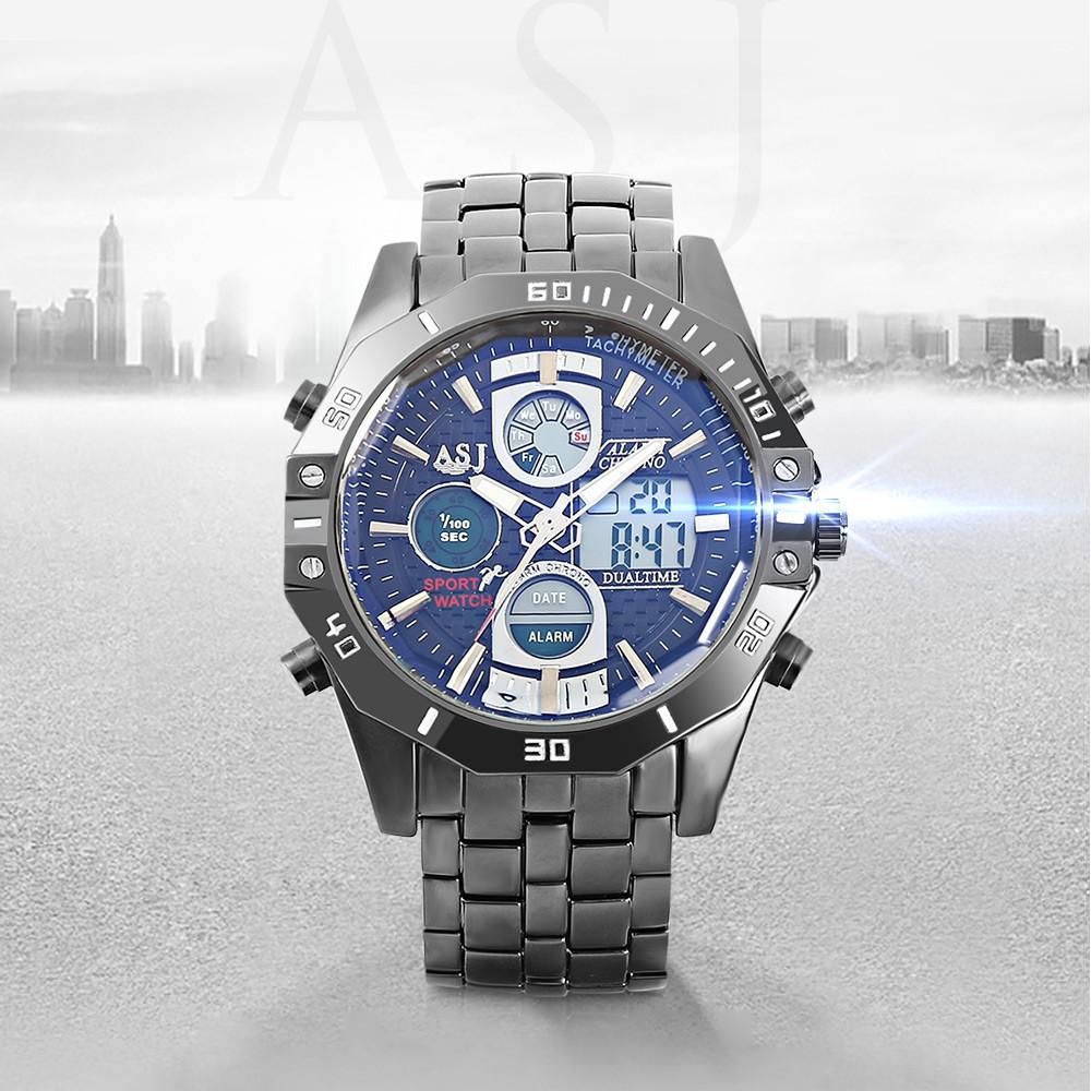 ASJ B17B Dual Movt Sports LED Male Watch