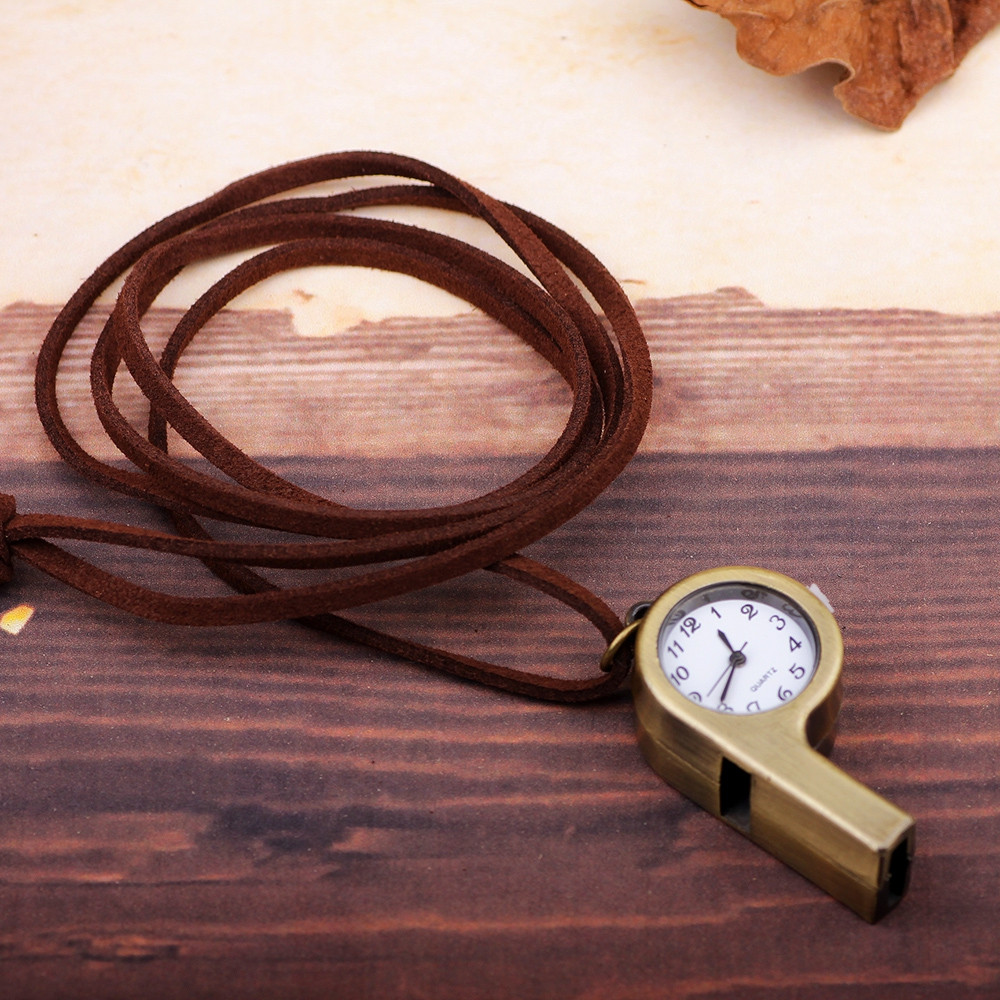 Vintage Whistle Pocket Watch