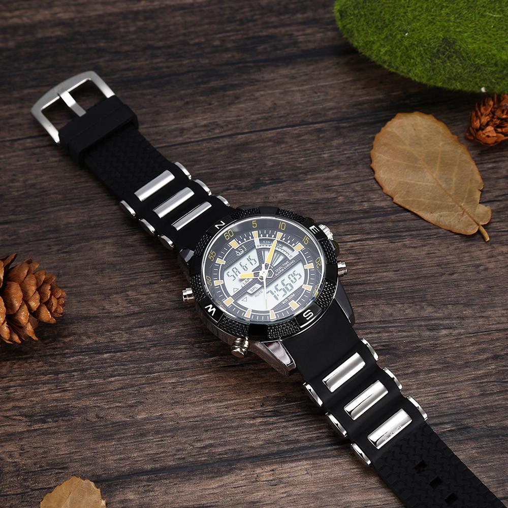 ASJ B220 Dual Movt Sports LED Male Watch