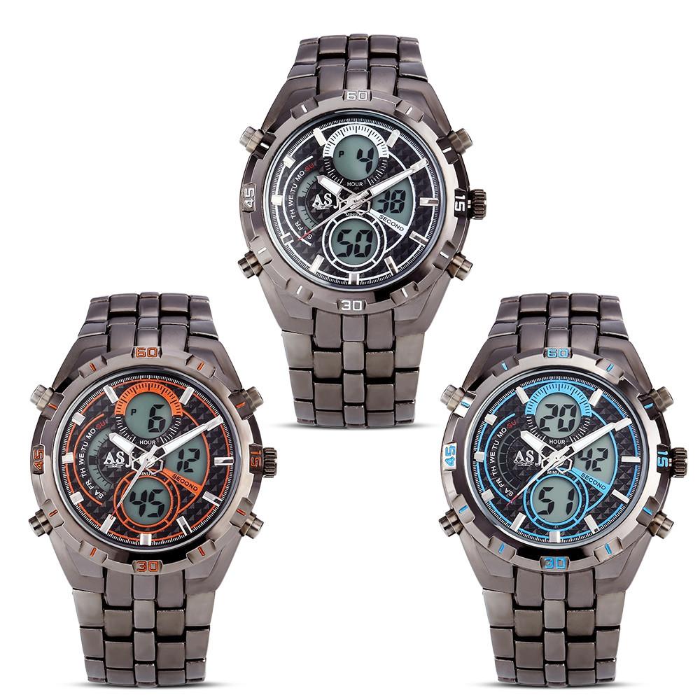 ASJ B897 Dual Movt Sports LED Male Watch