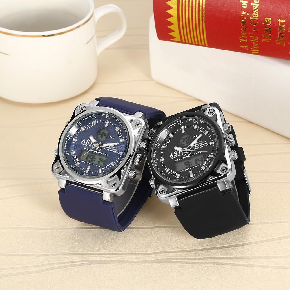 ASJ B181 Dual Movt Sports LED Male Watch