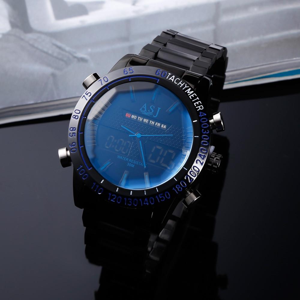 ASJ B42 Dual Movt Sports LED Male Watch