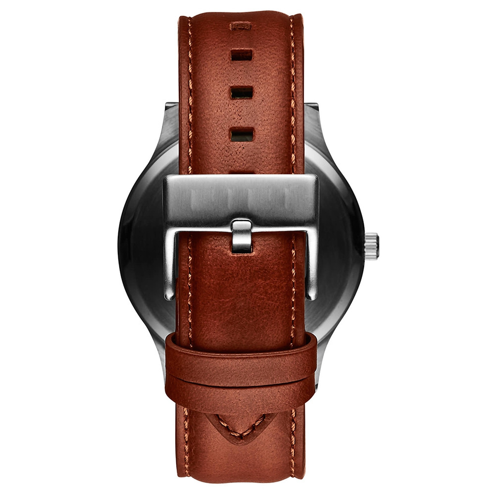 Cooho Watch Quartz Leather Strap Quartz Movement Water Resistant 3ATM Watch Casual Business Brand