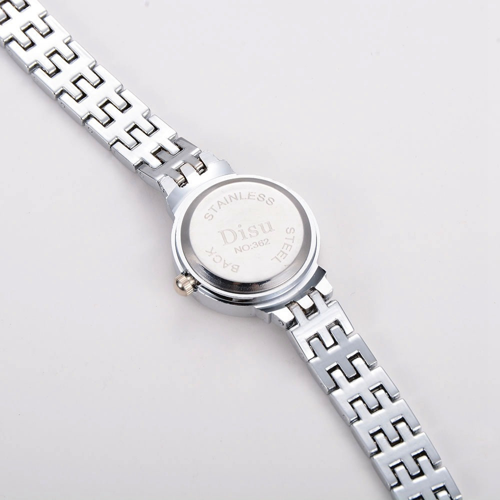 DISU New Fashion Women Alloy Quartz Bracelet Wrist Watch SILVER