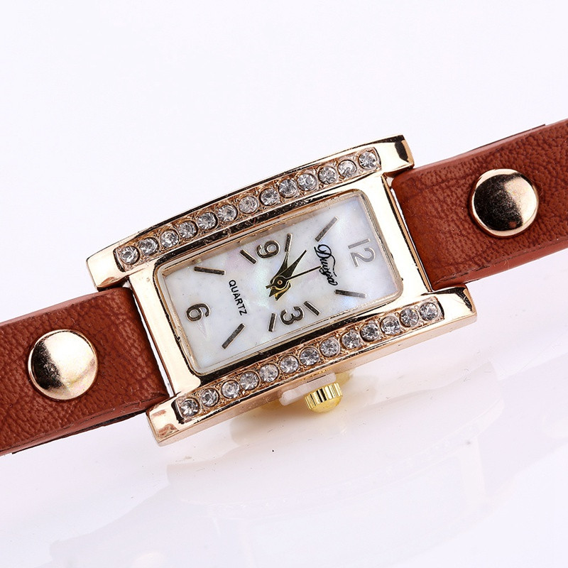 Duoya D132 Women Bracelet Watch Lady Watch Fashion COFFEE