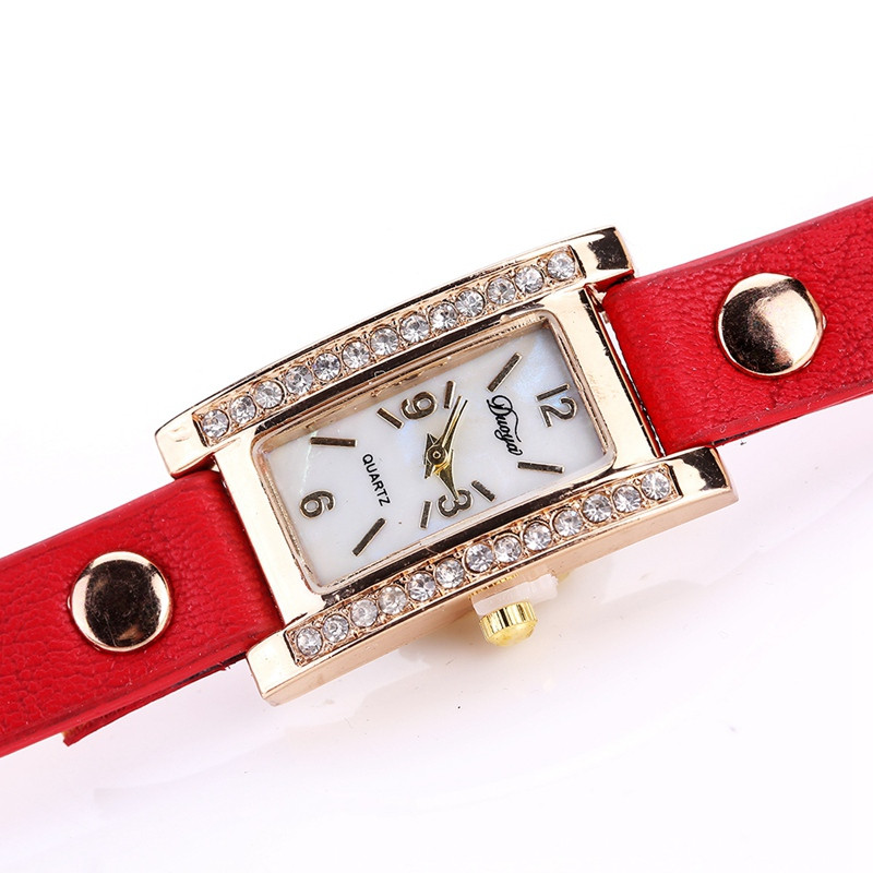 Duoya D132 Women Bracelet Watch Lady Watch Fashion RED