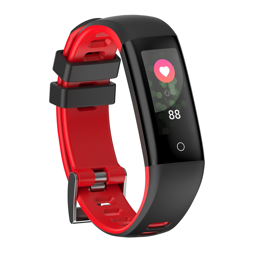G16 Color Screen Smart Band Pedometer Heart Rate Blood Pressure Calorie Step Monitoring  Fitness Bracelet RED