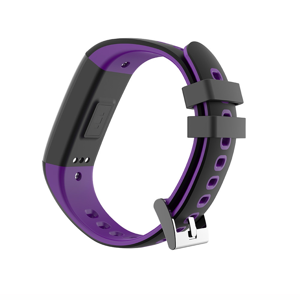 G16 Color Screen Smart Band Pedometer Heart Rate Blood Pressure Calorie Step Monitoring  Fitness Bracelet PURPLE