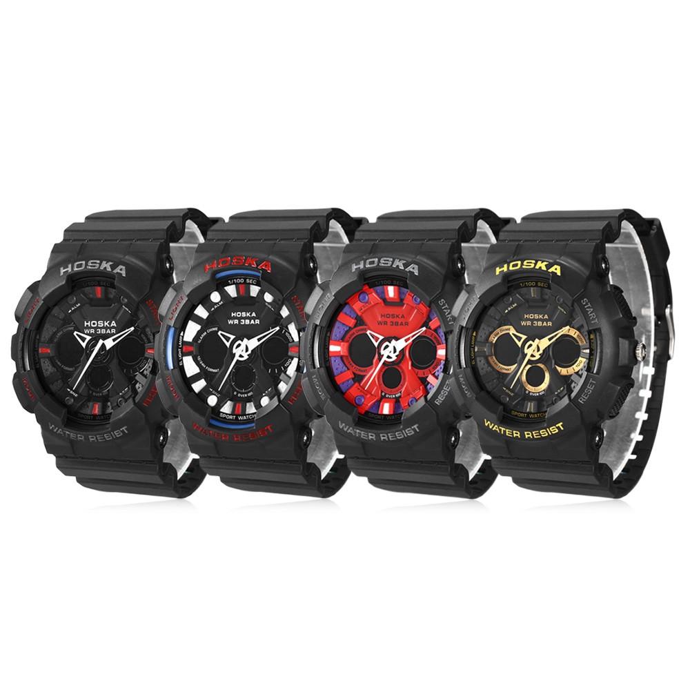 HOSKA HD047B Double Movt Wristwatch for Children YELLOW