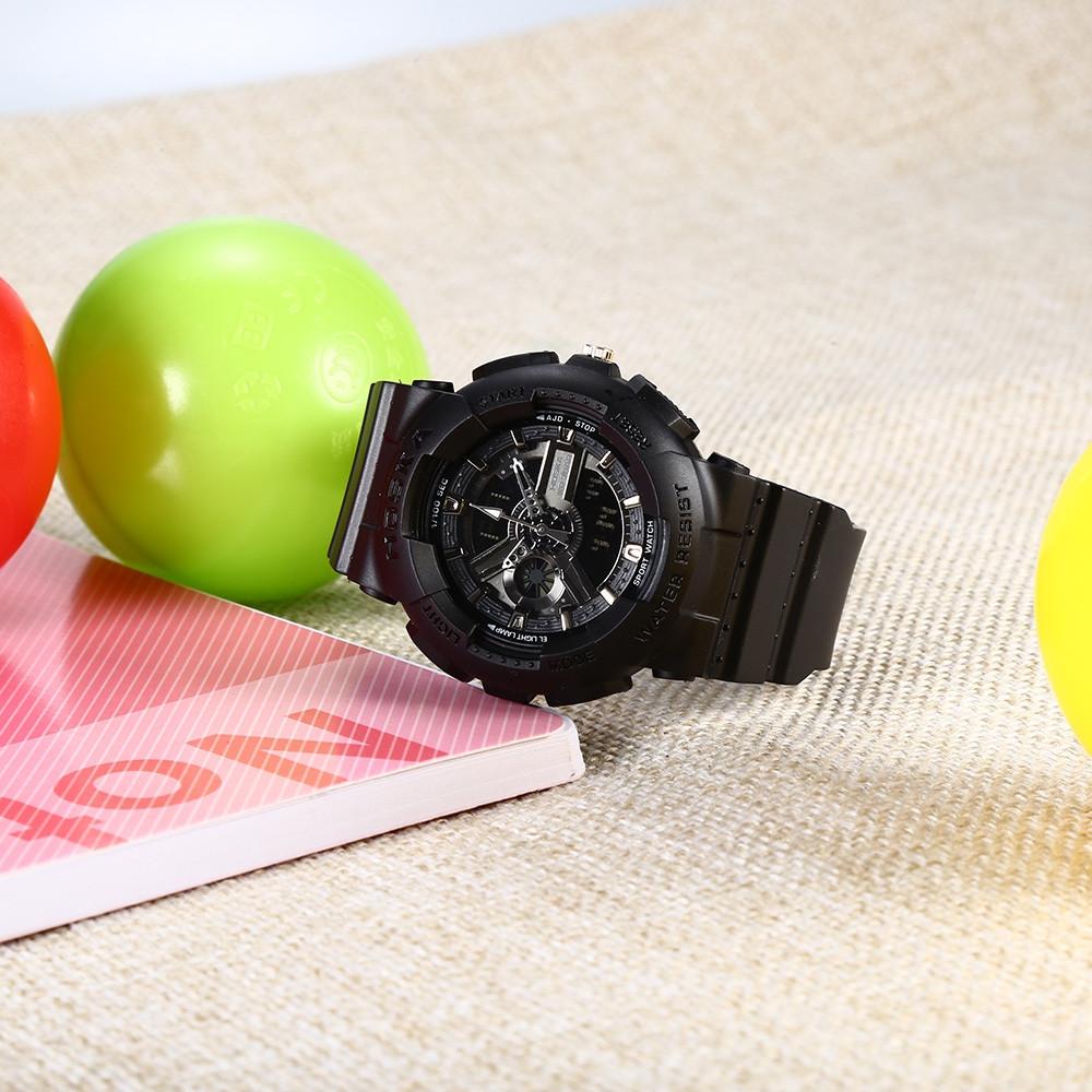 HOSKA HD058S Double Movt Wristwatch for Children DEEP BLUE
