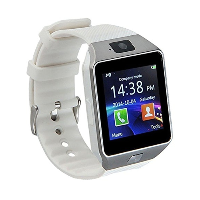 Digital Smart Watch Wristwatch Men Bluetooth Camera SIM Card SD Supported WHITE